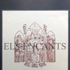 Arte: EXLIBRIS ANGEL BATLLE TEJEDOR . Lote 200359488