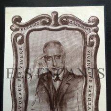 Arte: EXLIBRIS EUGENIO GARZOLINI . Lote 200359515