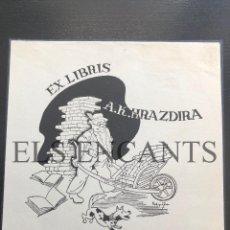Arte: EXLIBRIS A.K HRAZDIRA. Lote 200359876