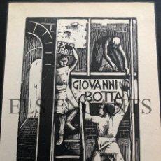 Arte: EXLIBRIS GIOVANNI BOTTA . Lote 200359920