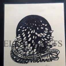 Arte: EXLIBRIS VERZAMELIND ANDRE. Lote 200360447