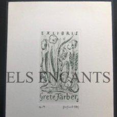 Arte: EXLIBRIS GRETE FARBER . Lote 200360518