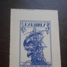 Arte: EX LIBRIS DE JUAN VICENTE BOTELLA PARA EL EXLIBRIS BARCO. Lote 201334022