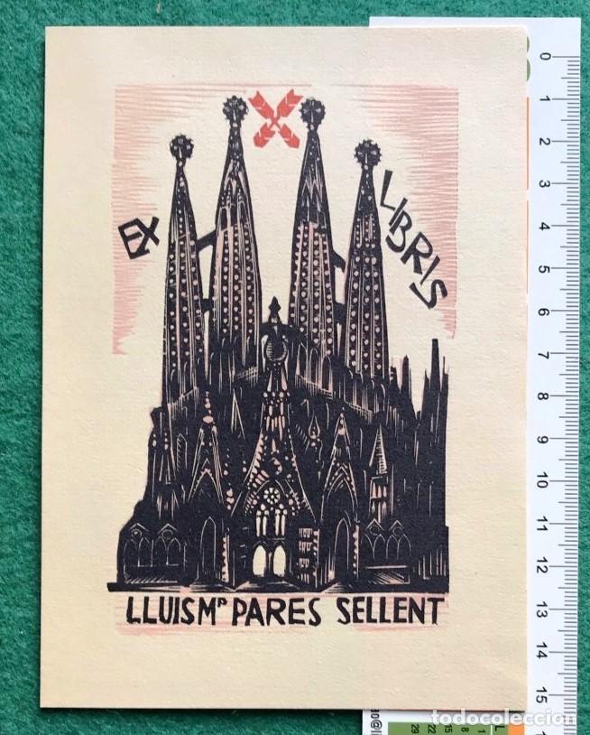 EX LIBRIS CARLISTA. LLUIS Mª PARES. CATALUÑA (Arte - Ex Libris)