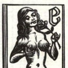Art: ORIGINAL - EXLIBRIS EX-LIBRIS FRANZ STUMMVOLL 1923 - 1992 - 80 X 60 MM ALEMANIA. Lote 202084112