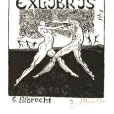 Art: ORIGINAL - EXLIBRIS EX-LIBRIS EDUARD ALBRECHT - 145 X 105 MM. Lote 202383372