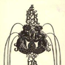 Art: ORIGINAL - EXLIBRIS EX-LIBRIS PAM G. RUETER - HOLANDA - RHEBENGEN - 110 X 90 MM. Lote 202383511