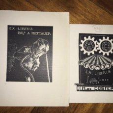 Arte: LOTE DE 2 EXLIBRIS DE INGENIERÍA. AÑOS 40.. Lote 202929740