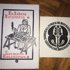 Arte: LOTE DE 2 EXLIBRIS DE BOTÁNICA. AÑOS 60.. Lote 202929795