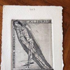 Arte: BELLO EXLIBRIS GRABADO AL AGUAFUERTE. DOROTHEA HAHNAEL. 15X11 CM.. Lote 202930121