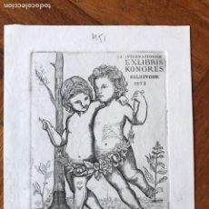 Arte: BELLO EXLIBRIS GRABADO 14,5X11 CM. CONGRESO EXLIBRIS HELSINGOR 1972.. Lote 202930705