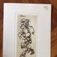 Arte: BELLO EXLIBRIS GRABADO 15,5X10,5 CM. KOVÁCS. FIRMADO A LAPIZ EN PLANCHA. Lote 202930906