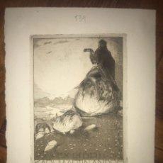 Arte: EXLIBRIS GRABADO AGUAFUERTE. 1921. KARL MARTIN ANDRES.. Lote 203269960