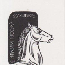 Arte: EX-LIBRIS DE ORIOL Mª DIVI PARA MIRIAM RICOMÀ - 1998 – (FIRMA A LLAPIS). Lote 205381462