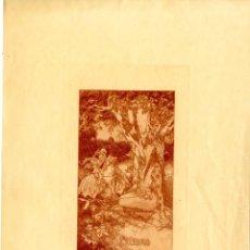 Arte: ALEXANDRE DE RIQUER. EX LIBRIS PARA JOSEP FABREGAT. Lote 206774331