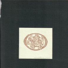 Arte: ORIGINAL - EXLIBRIS EX-LIBRIS RICHARD FLOCKENHAUS. DATA: 1930 - 1945. FIRMADO - 10 X 9 CMS. Lote 207117505