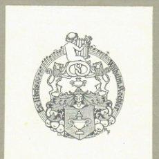 Arte: ORIGINAL - EXLIBRIS EX-LIBRIS RICHARD FLOCKENHAUS. DATA: 1930 - 1945. FIRMADO - 10 X 9 CMS. Lote 207117641