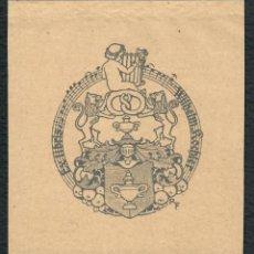 Arte: ORIGINAL - EXLIBRIS EX-LIBRIS RICHARD FLOCKENHAUS. DATA: 1930 - 1945. MEDIDAS: 10 X 9 CMS. Lote 207117782
