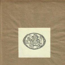 Arte: ORIGINAL - EXLIBRIS EX-LIBRIS RICHARD FLOCKENHAUS. DATA: 1930 - 1945. FIRMADO - MEDIDAS: 10 X 9 CMS. Lote 207117920