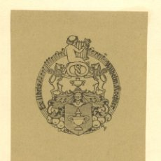 Arte: ORIGINAL - EXLIBRIS EX-LIBRIS RICHARD FLOCKENHAUS. DATA: 1930 - 1945. - MEDIDAS: 12 X 9 CMS. Lote 207118093