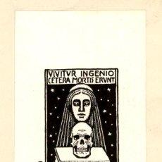 Arte: ORIGINAL - EXLIBRIS EX-LIBRIS RICHARD FLOCKENHAUS. DATA: 1930 - 1945. - MEDIDAS: 13 X 7 CMS. Lote 207118368
