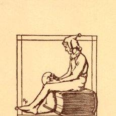 Arte: ORIGINAL - EXLIBRIS EX-LIBRIS RICHARD FLOCKENHAUS. DATA: 1930 - 1945. - MEDIDAS: 13 X 10 CMS. Lote 207118655