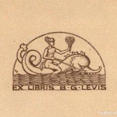 Arte: ORIGINAL - EXLIBRIS EX-LIBRIS RICHARD FLOCKENHAUS. DATA: 1930 - 1945. - MEDIDAS: 13 X 11 CMS. Lote 207118840