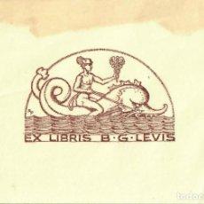 Arte: ORIGINAL - EXLIBRIS EX-LIBRIS RICHARD FLOCKENHAUS. DATA: 1930 - 1945. - MEDIDAS: 14 X 10 CMS. Lote 207119863