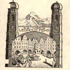 Art: ORIGINAL - EXLIBRIS EX-LIBRIS RICHARD FLOCKENHAUS. DATA: 1930 - 1945. - MEDIDAS: 14 X 10 CMS. Lote 207120176