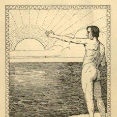 Arte: ORIGINAL - EXLIBRIS EX-LIBRIS RICHARD FLOCKENHAUS. DATA: 1930 - 1945. - MEDIDAS: 12 X 9 CMS. Lote 207120612