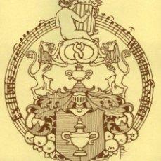 Arte: ORIGINAL - EXLIBRIS EX-LIBRIS RICHARD FLOCKENHAUS. DATA: 1930 - 1945. - MEDIDAS: 11 X 10 CMS. Lote 207120740
