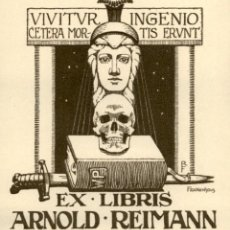 Arte: ORIGINAL - EXLIBRIS EX-LIBRIS RICHARD FLOCKENHAUS. DATA: 1930 - 1945. - MEDIDAS: 11 X 10 CMS. Lote 207120923