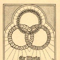 Arte: ORIGINAL - EXLIBRIS EX-LIBRIS RICHARD FLOCKENHAUS. DATA: 1930 - 1945. - MEDIDAS: 11 X 9 CMS. Lote 207121102