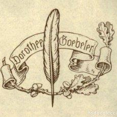 Arte: ORIGINAL - EXLIBRIS EX-LIBRIS RICHARD FLOCKENHAUS. DATA: 1930 - 1945. - MEDIDAS: 9 X 9 CMS. Lote 207121178