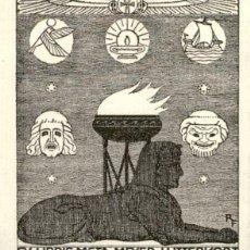 Arte: ORIGINAL - EXLIBRIS EX-LIBRIS RICHARD FLOCKENHAUS. DATA: 1930 - 1945. - MEDIDAS: 14 X 12 CMS. Lote 207121427