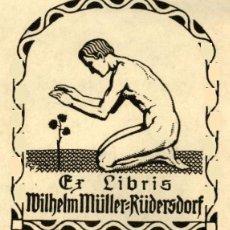 Arte: ORIGINAL - EXLIBRIS EX-LIBRIS RICHARD FLOCKENHAUS. DATA: 1930 - 1945. - MEDIDAS: 9 X 8 CMS. Lote 207121890
