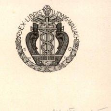 Arte: ORIGINAL - EXLIBRIS EX-LIBRIS RICHARD FLOCKENHAUS. DATA: 1930 - 1945. - FIRMADO - 13 X 13 CMS. Lote 207122285