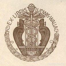 Arte: ORIGINAL - EXLIBRIS EX-LIBRIS RICHARD FLOCKENHAUS. DATA: 1930 - 1945 - 10 X 10 CMS. Lote 207122378