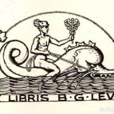 Arte: ORIGINAL - EXLIBRIS EX-LIBRIS RICHARD FLOCKENHAUS. DATA: 1930 - 1945 - FIRMADO 12 X 7 CMS. Lote 207122576
