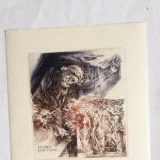 Arte: EXLIBRIS EX-LIBRIS GUIDO MARIMAN. HERCULES LEÓN JARDÍN HESPERIDES DESNUDO. Lote 208122375