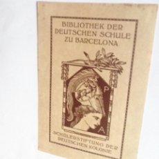 Arte: EXLIBRIS EX-LIBRIS PARA BIBLIOTECA DE LA ESCUELA ALEMANA DE BARCELONA. BUSTO ATENEA CENTAURO. Lote 208209552