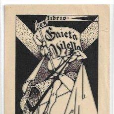 Arte: EX LIBRIS - GAIETÀ VILELLA - ILUSTRADOR EMILI FREIXAS - 9,6 X 13 CM.. Lote 208385883