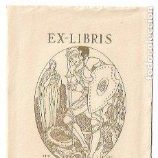 Arte: EX LIBRIS - VÍCTOR OLIVA - ILUSTRADOR JOAN D'IVORI - SANT JORDI - 11 X 15 CM.. Lote 208386202