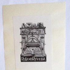 Arte: EXLIBRIS EX-LIBRIS JAN BATTERMANN, 1968. IMPRENTA LIBRO. Lote 208440351