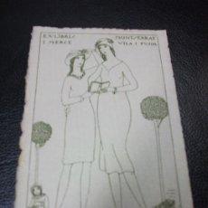 Arte: EX LIBRIS DE D'IVORI PARA MONTSERRAT VILA I PUJOL EXLIBRIS. Lote 208929861
