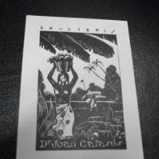Arte: EX LIBRIS DE FRANK ALPRESA PARA DR. JOAN CATASUS EXLIBRIS DESNUDO MARFIL. Lote 208930425