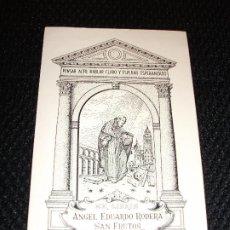 Arte: EX LIBRIS DE SEGOVIA ACUEDUCTO PARA ANGEL EDUARDO RODERA SAN FRUTOS EXLIBRIS POR RICARDO ABAD 1949. Lote 210031151