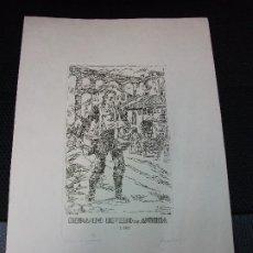 Arte: EX LIBRIS GRABADO SEGOVIA ACUEDUCTO FERNANDO RIVERO EXLIBRIS POR FERNANDO PEREZ VIZCAINO - SOLANA. Lote 210032482