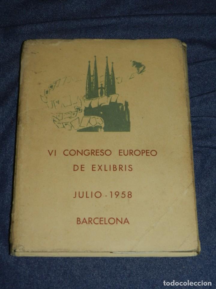 (MF) VI CONGRESO EUROPEO DE EXLIBRIS - JULIO 1958 BARCELONA, COLECCIÓN DE 30 EX LIBRIS (Arte - Ex Libris)