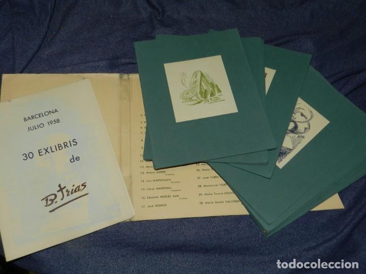 Arte: (MF) VI CONGRESO EUROPEO DE EXLIBRIS - JULIO 1958 BARCELONA, COLECCIÓN DE 30 EX LIBRIS - Foto 2 - 210940880